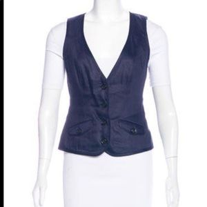 Diane Von Furstenberg Button Up Vest